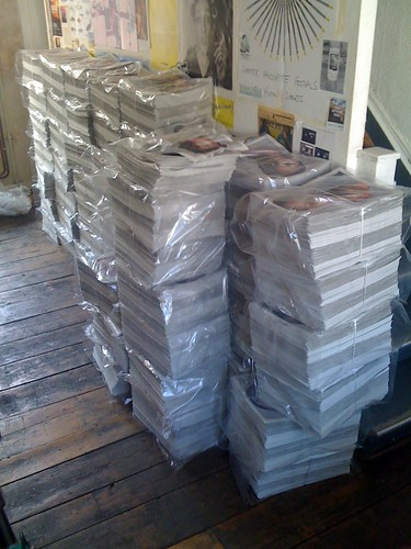 Stack of Protein newspapers