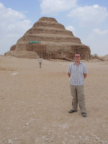 In front of the Step Pyramid of Djoser