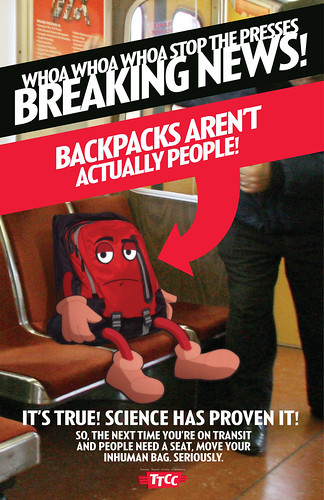 Backpacks aren't actually people!