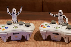 New lap record (-spam-) Tags: canon toy starwars xbox games stormtrooper figurine controller console hasbro puckyou spacetrooper 40d