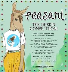 Peasant tee design competition! (heidigreenwood) Tags: peasant damienderose iheartuproductions papergardenrecords lauramckellar