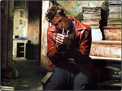 Fight Club. Tyler Durden smoking (mercyFML) Tags: actor bradpitt fightclub palahniuk tylerdurden edwardnorton