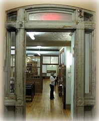 Original  Doorway (Aunt Teena) Tags: nyc original lowereastside doorway photoshopelements unrestored eldridgestreetsynagogue