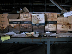 Payroll 1982 (mrscaptainmonkeypants) Tags: abandoned 1982 factory decay urbandecay baltimore adventure forgotten urbanexploration boxes exploration urbex payroll