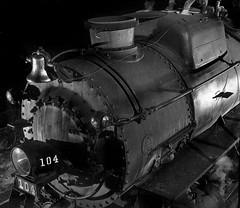1955 ... O. Winston Link- engine (x-ray delta one) Tags: railroad 1955 rain train advertising suburban retro steam pullman locomotive populuxe choochoo norfolkandwestern observationcar owinstonlink
