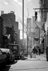 NYC Street (Miles Davis (Smiley)) Tags: newyorkcity blackandwhite newyork film 35mm blackwhite manhattan 1995 zenith ilfordfilm