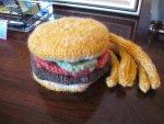Handknit Burger & Fries - Play Food
