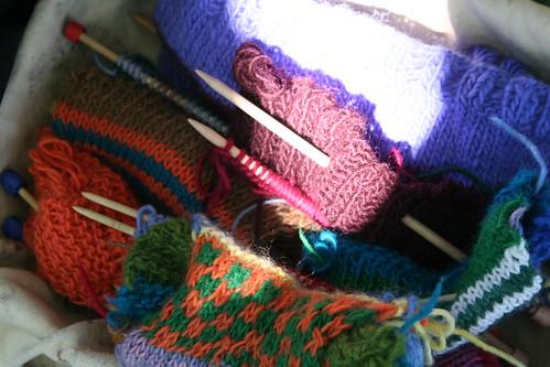 Basket Full of Second-Grade Knitting