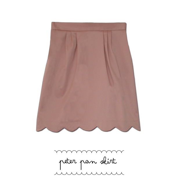 peter pan skirt dusty pink