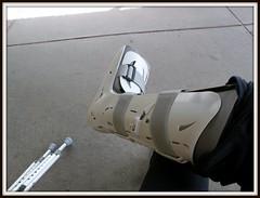 aircast (melissajmelissa) Tags: broken bone ankle