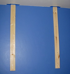 Craft room pegboard back boards