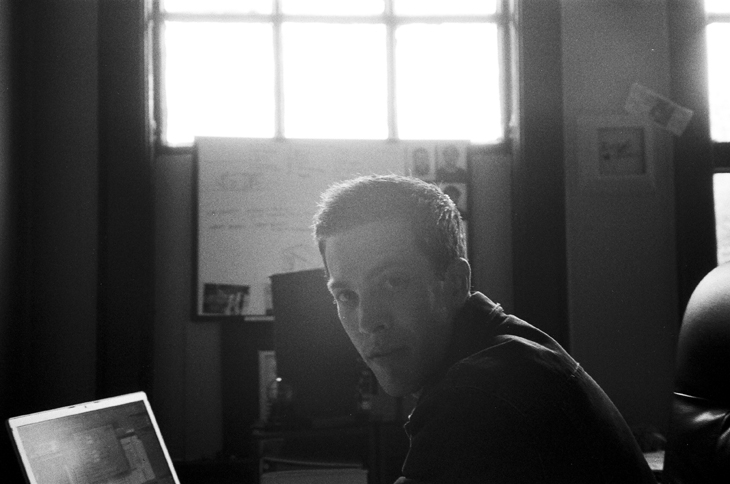 rob at the office