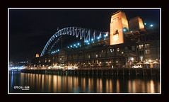 The Rocks, Sydney (allsaycheese) Tags: bridge sea reflection water lights one hotel pier fishing gm harbour sydney australia creation nite sebel
