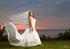 Tiffany (WillKing) Tags: wedding beach sunrise yorktown weddingdress bridal tiffany