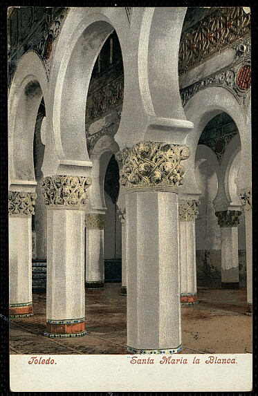 Sinagoga de Santa María la Blanca a comienzos del siglo XX. Foto Purger