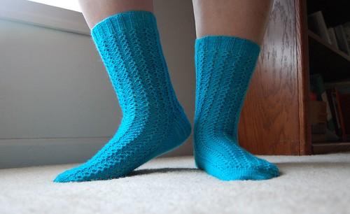 FO: Lacy Ribs socks