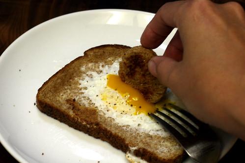 holey egg sandwich