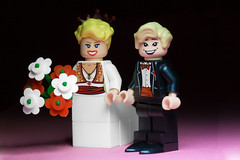 Mark and Hannah (Sad Old Biker) Tags: pictures desktop uk morning flowers wedding wallpaper england brick love cake canon poster geotagged toy photography groom bride photo funny couple europe kevin dress lego fig photos sale mark lol background awesome hannah ceremony marriage husband wed mini images best suit card photograph buy wife bouquet lmao ever coolest marry cutest topper anthropomorphism anthropomorphic rofl minifigures poulton kevinpoulton sadoldbiker finniest
