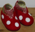 Toddler Toadstool Slippers (size Euro-22/23, US - 6.5/7)