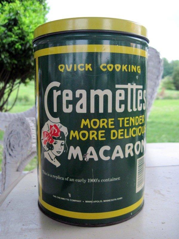 Creamettes Macaroni Tin- replica