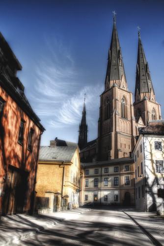 Vista de la catedral de Uppsala.