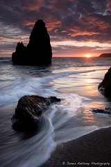Rodeo beach / Marin Headlands (James Anthony Photography) Tags: ocean sanfrancisco sunset sea sun beach star ray seascapes marin f16 filter sing headlands 5d stacks rodeobeach mark2