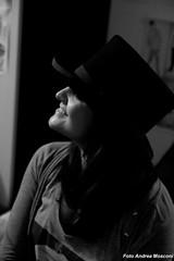 Profilo  --  Profile (A.Mosconi) Tags: bw white black bianco nero viso cappello ragazza volto profilo