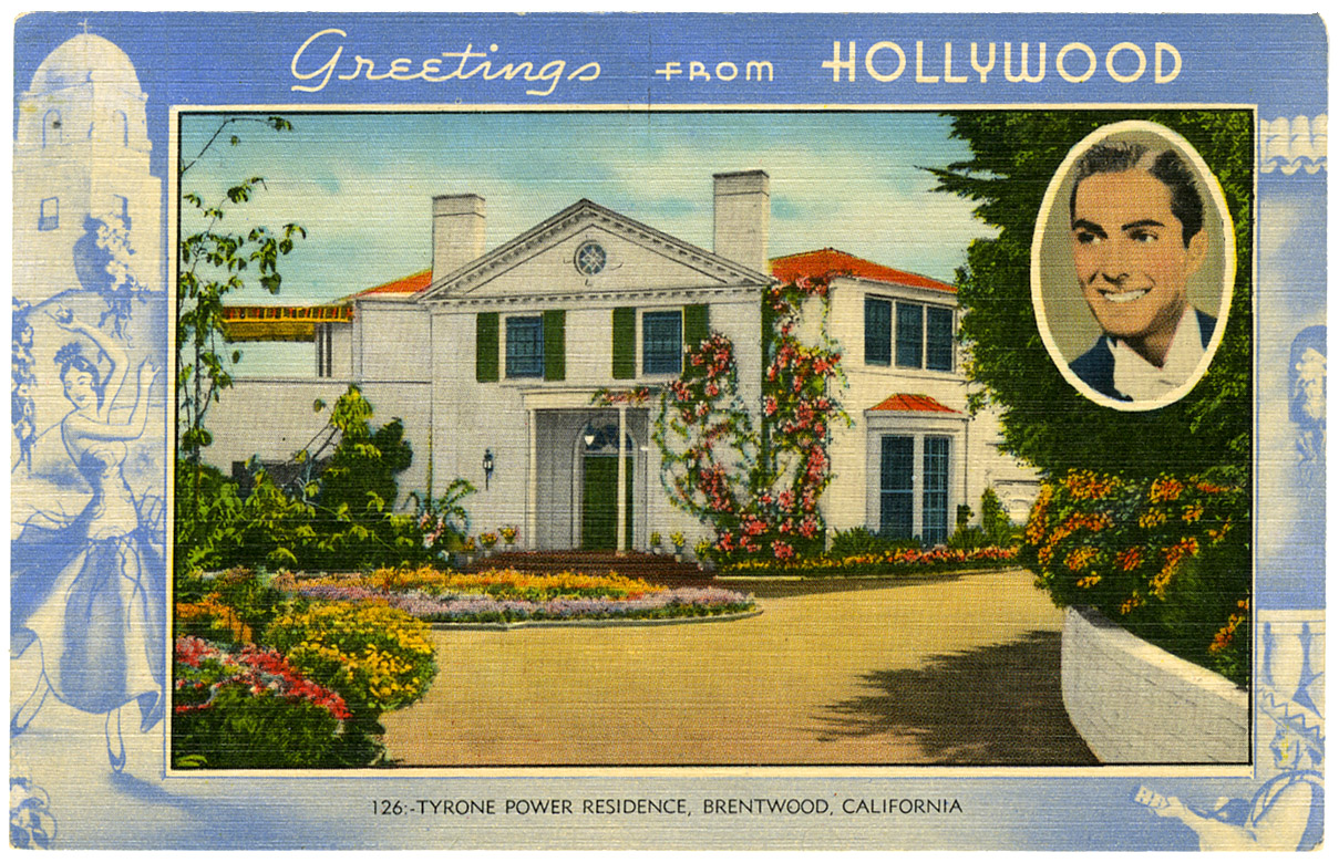 Tyrone Power post card_ft_tatteredandlost