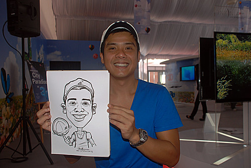 caricature live sketching for LG Infinia Roadshow - day 2 - d