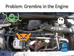 w2sp: Slide 8: Problem: Gremlins in the engine