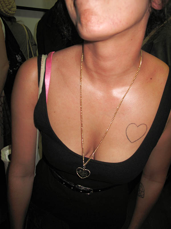 Heart Tattoo and Heart Necklace