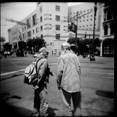 Holga black and white (kuronakko) Tags: sanfrancisco street blackandwhite bw 6x6 film holga iso400 squareformat kodaktrix photoworkssf