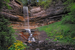 Munising Falls Michigan waterfalls (Michigan Nut) Tags: longexposure michigan waterfalls polarizer recent ndfilter munisingfalls munisingmichigan d700 6stopndfilter nikon1635mm