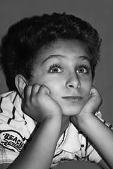 I don't think ... I FEEL (Zaina Al-Sanea) Tags: portrait bw white black child hood zaina 7many alsanea hamany zal9an3
