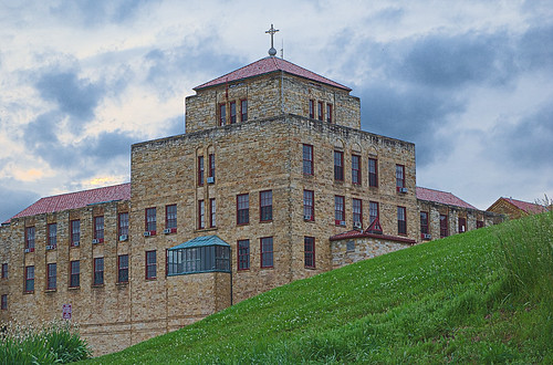 Saint Meinrad Archabbey, in Saint Meinrad, Indiana, USA - Saint Bede Hall