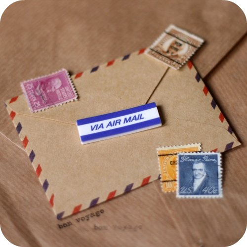 Airmail Sticker Brooch