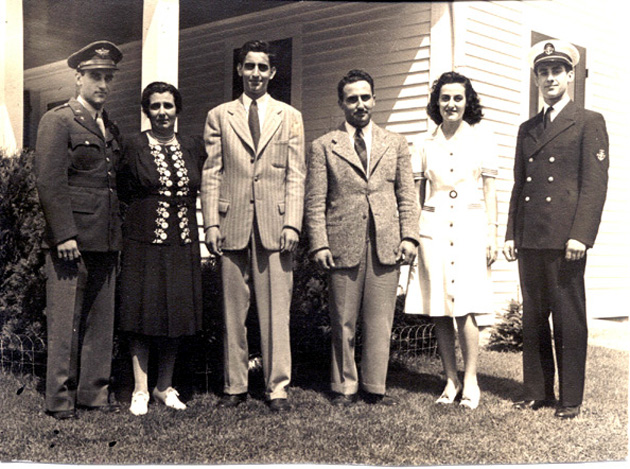 Reno, Charlotte, Bob, Tony, Angelina & Nick Summer 1944.