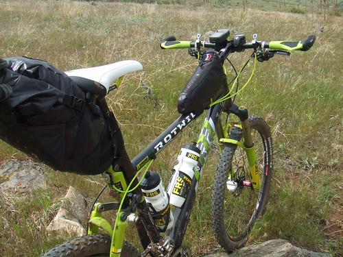Test run with loaded seat bag on CTR bike