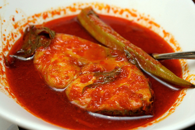 Assam Pedas (S$5.50) - Hot and Sour Fish in Chili