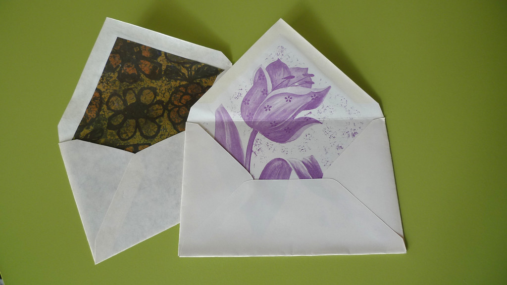 vintage flower envelopes