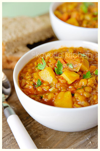 Curried Lentil Soup « Kayotic Kitchen