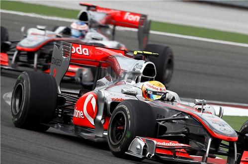 Hamilton e Button - Turquia 2010