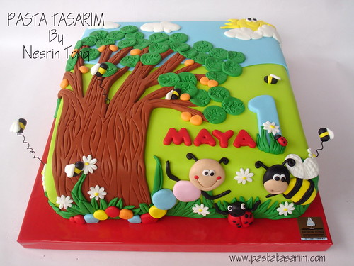 1ST BIRTHDAY CAKE - MAYA