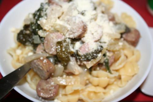 Rapini and Sausage Pasta