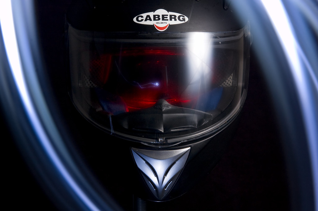 Light Painted Crash Helmet