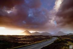 Glen Sligachan  (Isle of Skye) (gregor H) Tags: road morning clouds sunrise landscape geotagged scotland isleofskye spirit gettyimages gbr glensligachan sligachanhotel sconser lochsligachan eileanacheo grosbritannien geo:lat=5729842958 geo:lon=620287074