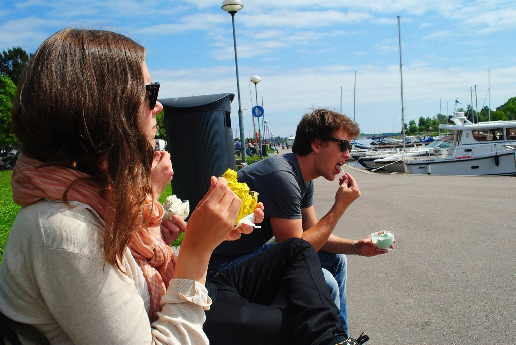 ice cream on the baltic sea