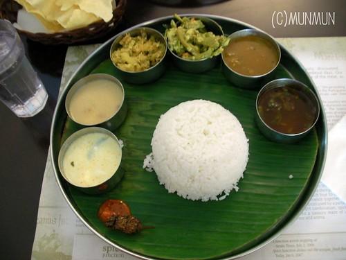 Kerala Vegetarian Thali