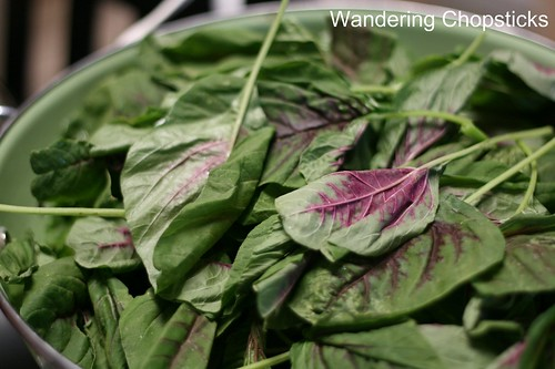 Rau Den Xao Chao (Vietnamese Amaranth  Chinese Red Spinach Sauteed with Fermented Bean Curd) 2