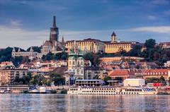 Sunrise on the Danube. Budapest, Hungary